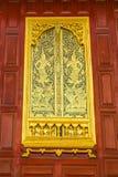 stylowy tajlandzki tradycyjny okno Zdjęcie Stock