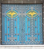 Stylu frontowy piękny stary budynek Stary drzwi rówieśnik, piękny i silny Obraz Royalty Free