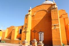 Stylu kościelny dziedzictwo Hiszpańska konkieta w Meksyk zdjęcia stock
