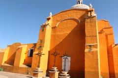 Stylu kościelny dziedzictwo Hiszpańska konkieta w Meksyk obrazy royalty free