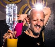 Stylu wolnego Amerykański barman - Dwa barwiącej butelki i potrząsacze obraz royalty free
