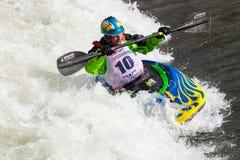 Stylu wolnego Kayaker Zdjęcia Royalty Free