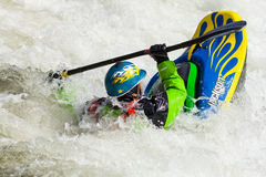 Stylu wolnego Kayaker Obrazy Royalty Free
