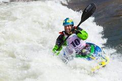 Stylu wolnego Kayaker Zdjęcia Stock