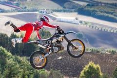 Stylu wolnego motocross przedstawienie obrazy royalty free