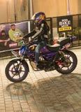 Stylu wolnego motocyklu wyczyn kaskaderski, India roweru tydzień Zdjęcia Royalty Free