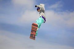 Stylu wolnego narciarstwo w Szczyrk Zima Polska Obraz Royalty Free