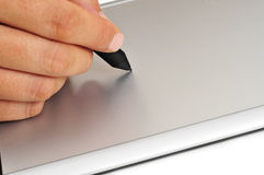Stylus and graphics tablet Stock Photography