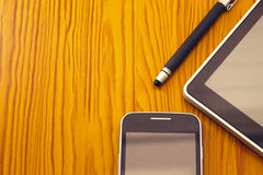 Stylus, tablet and mobile Stock Photos