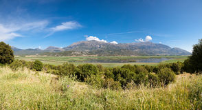 Stymfalia Wetland. Beautiful summer landscape of Stymfalia Wetland in Peloponnese, Greece Stock Image