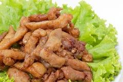 Styple thaï, porc cuit à la friteuse Photos stock