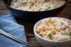 Styr fry rice royalty free stock photo