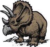 Styracosaurus como o dinosaurus velho Fotografia de Stock Royalty Free