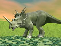 Styracosaurus dinosaur - 3D render Stock Photo