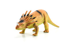 Styracosaurusdinosaurieleksak Royaltyfri Foto