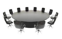 Styrelse, mötesrum och konferenstabell och stolar äganderätt för home tangent för affärsidé som guld- ner skyen till tolkning för Arkivfoton