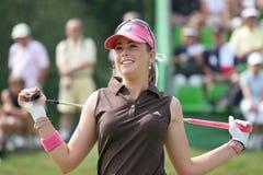 styrer evian golf 2006 för creameren paula arkivfoton