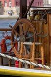 Styrhjulet på skeppet royaltyfri foto