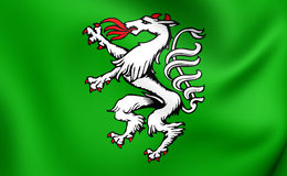 Styrian Banner of Arms, Austria. Royalty Free Stock Photo