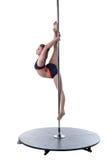 Styrka och nåd av poldansen Gulligt posera för flicka Arkivbild