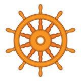 Styrninghjul av ett skepp, ett fartyg och en yacht vektor royaltyfri illustrationer