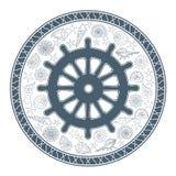 Styrninghjul och snäckskal Royaltyfria Bilder