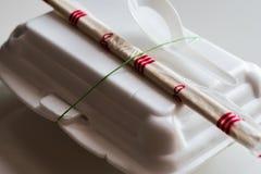 Styrofoam κιβώτιο για τα τρόφιμα Στοκ Εικόνες