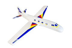 Styrofoam Airplane Model with Stickers Stock Photography