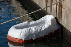 Styrofoam boat Stock Image