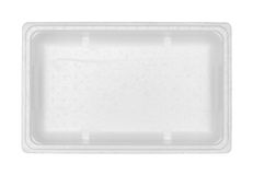 Styrofoam box. (with clipping path) isolated on white background Royalty Free Stock Photo