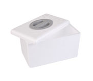 Styrofoam box Royalty Free Stock Photo