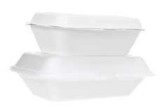 Styrofoam Boxes Stock Images