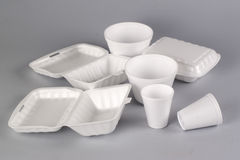 Styrofoam container Royalty Free Stock Photo