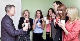 Styrofoam cup shock royalty free stock image