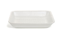 Styrofoam food tray Stock Image