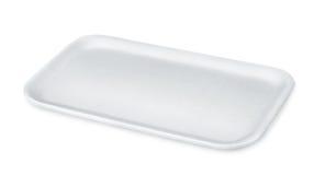 Styrofoam food tray Stock Photo