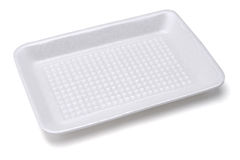 Styrofoam Food Tray Stock Photo