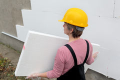 Styrofoam insulation Royalty Free Stock Image