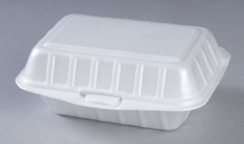 Styrofoam meal box Stock Image
