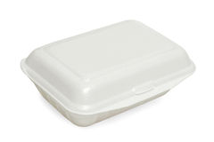 Styrofoam meal box i Stock Photo