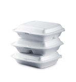 Styrofoam meal boxes Royalty Free Stock Image