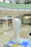 Styrofoam model head. Styrofoam ladies head model in the shopping mall Stock Images