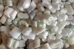 Styrofoam packing pieces Stock Photography