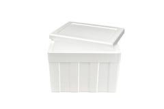 Styrofoam storage box Royalty Free Stock Images