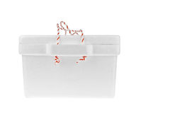 Styrofoam storage box on white background Stock Photography