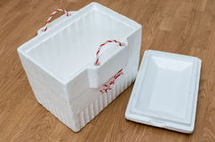 Styrofoam storage box Royalty Free Stock Photography