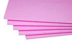 Styrofoam tables stock photo