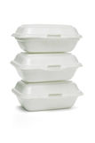 Styrofoam takeaway boxes Royalty Free Stock Photos