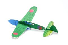 Styrofoam toy aeroplane Royalty Free Stock Image