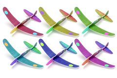 Styrofoam toy airplanes Royalty Free Stock Images